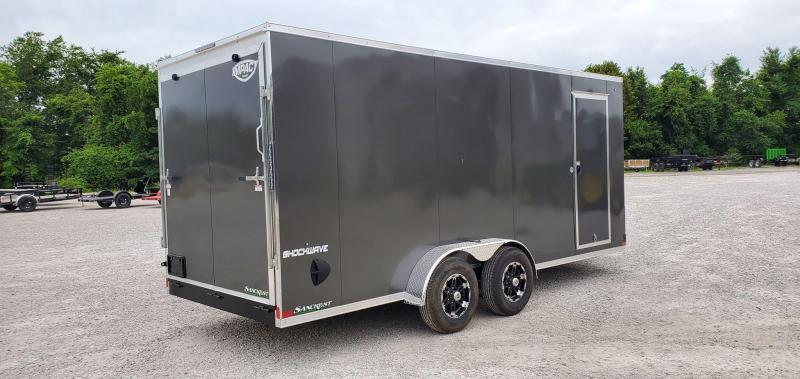 2021 Impact 7X18 TANDEM 10K CHARCOAL SHOCKWAVE CARGO W/7' HEIGHT