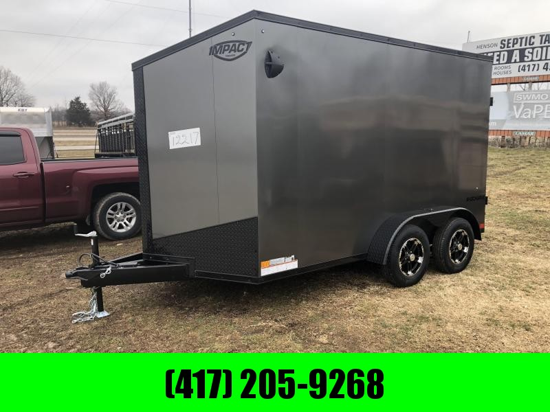 2022 Impact Trailers 7x12 Tandem Shockwave Enclosed Cargo Trailer