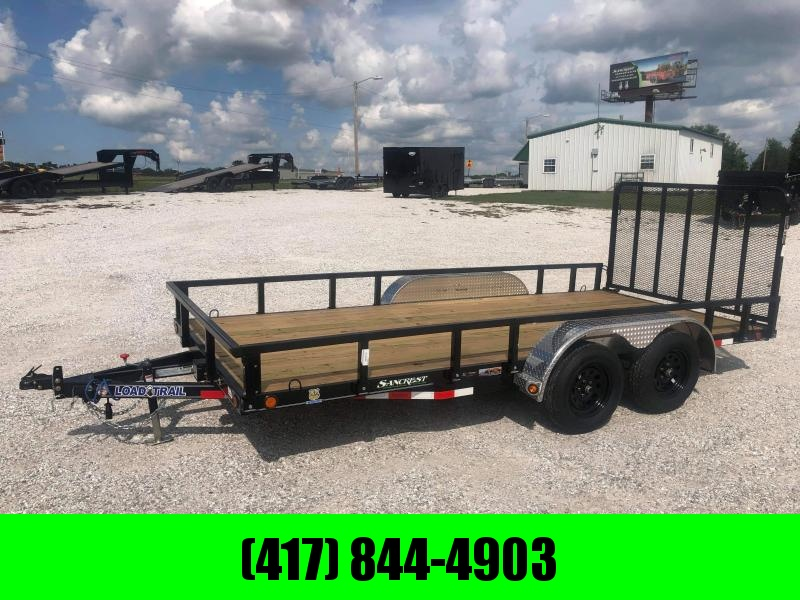 "2021 Load Trail 83X16 TANDEM 7K UTILITY W/4"" FRAME 4' TUBE GATE & REMOVABLE TUBE TOP RAILING"