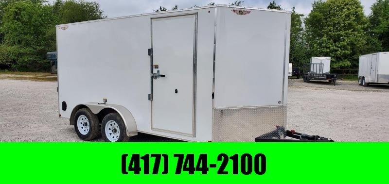 "2020 H and H 7X14 TANDEM 7K WHITE CARGO W/6'6"" HEIGHT"