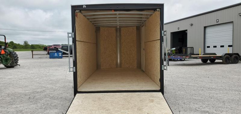 """2020 H and H 7X14 TANDEM 7K WHITE CARGO W/6'6"""" HEIGHT"""