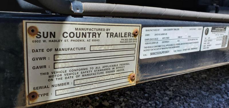 2018 Sun Country 5 CAR ANNIVERSARY TANDEM HAULER