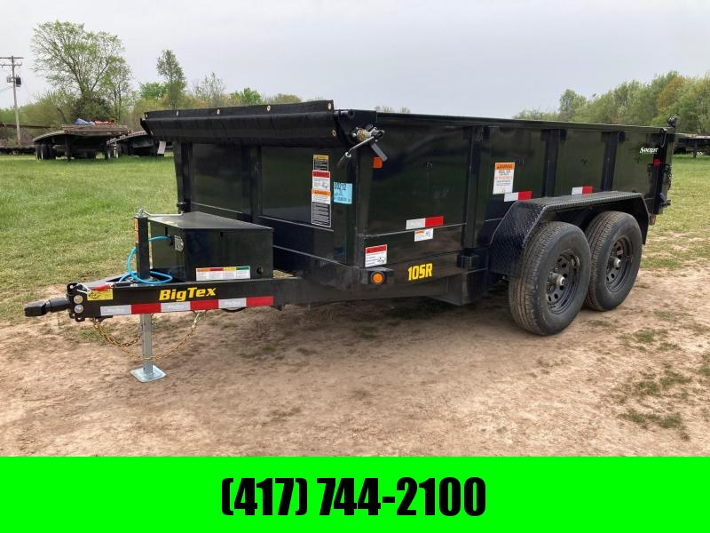"2021 Big Tex Trailers TANDEM 10K 83X12 DUMP W/24"" SIDES AND SLIDE IN RAMPS"