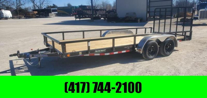 2021 Load Trail 83X18 TANDEM 7K UTILITY W/REMOVABLE TUBE TOP RAILING & 4' TUBE GATE