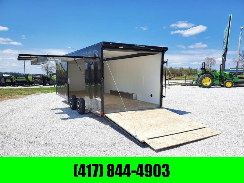 2021 Impact 8.5X24 TANDEM 10K ALL ALUMINUM SHOCKWAVE BLACKOUT CARGO W/EXTREME DOOR & 7' HEIGHT