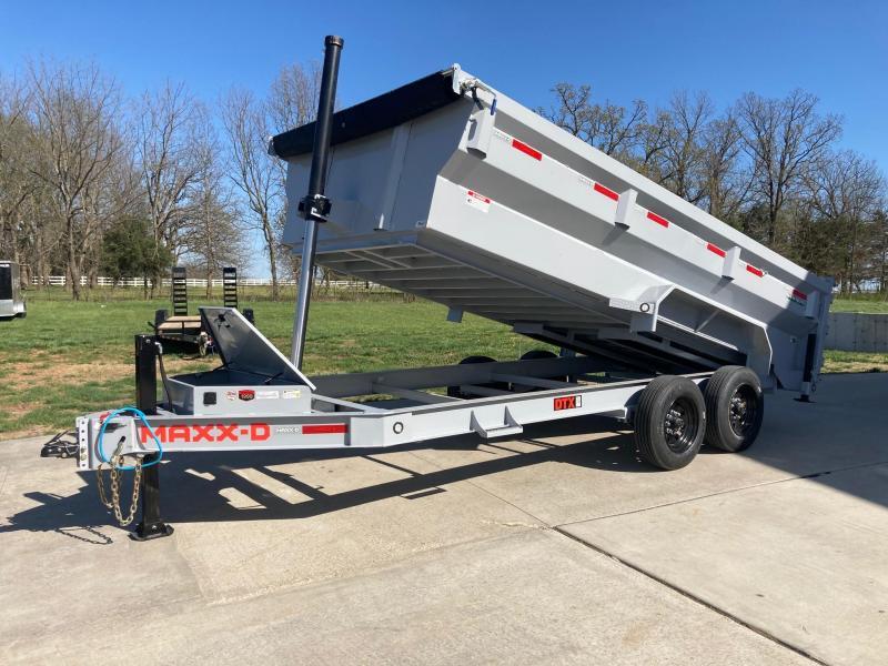 2021 MAXXD 83x16 Tandem Telescopic Dump Trailer W/24K Hoist, Hydraulic Jack, & 3 FT Flare Sides