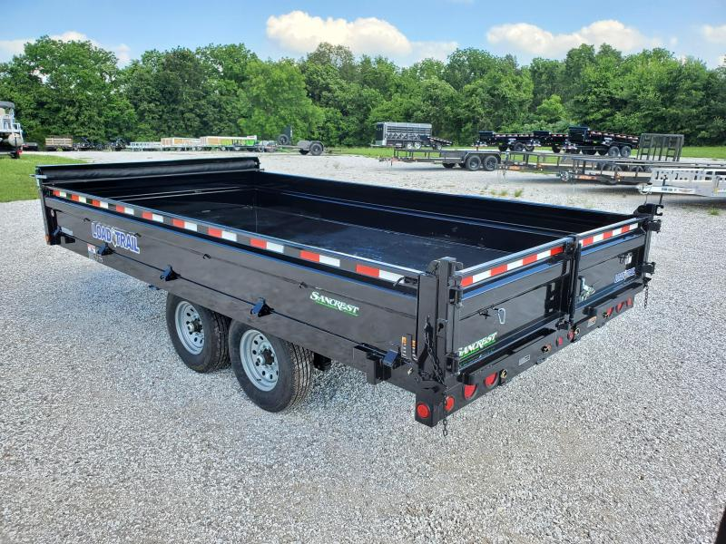 "2020 Load Trail 96"" x 16' Tandem Axle Pintle Hook Deck Over Dump"