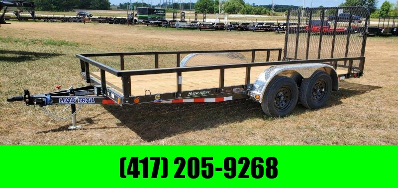 2021 Load Trail 83X16 TANDEM 7K UTILITY W/REMOVABLE RAILING & 4' TUBE GATE