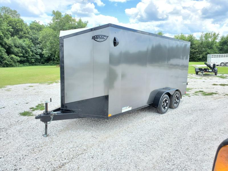 2021 Impact Trailers 7X16 CHARCOAL BLACKOUT CARGO
