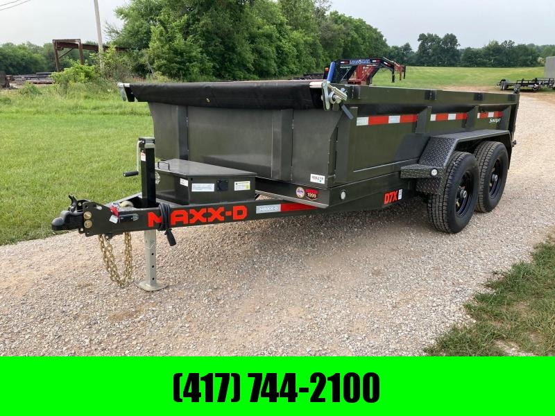 """2021 MAXXD 72X12 TANDEM 12K DUMP TRAILER W/ 21"""" SIDES AND SLIDE IN RAMPS"""