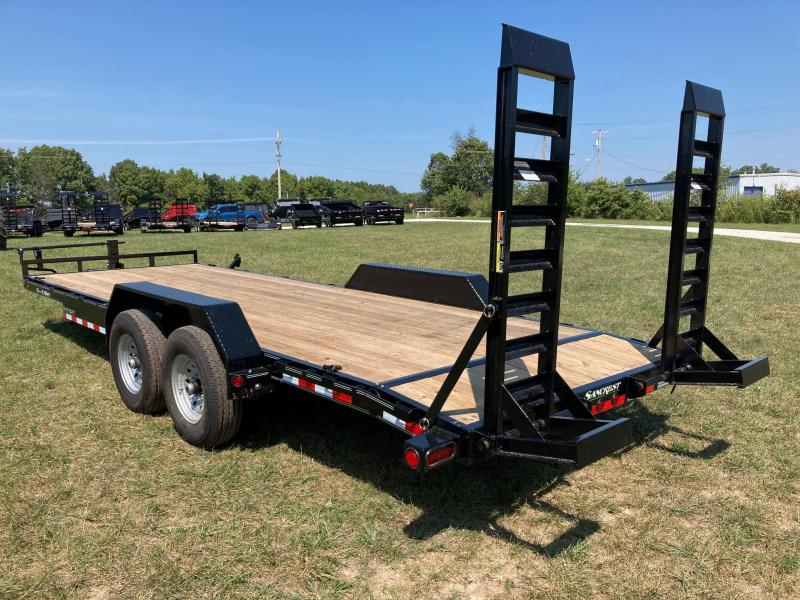 2022 Load Trail 83X22 TANDEM 14K CARHAULER W 2' DOVE AND STAND UP RAMPS