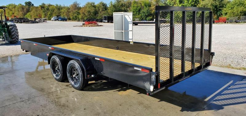 2021 H H 82X20 TANDEM 7K UTILITY W 4 TUBE GATE 15 SOLID SIDES