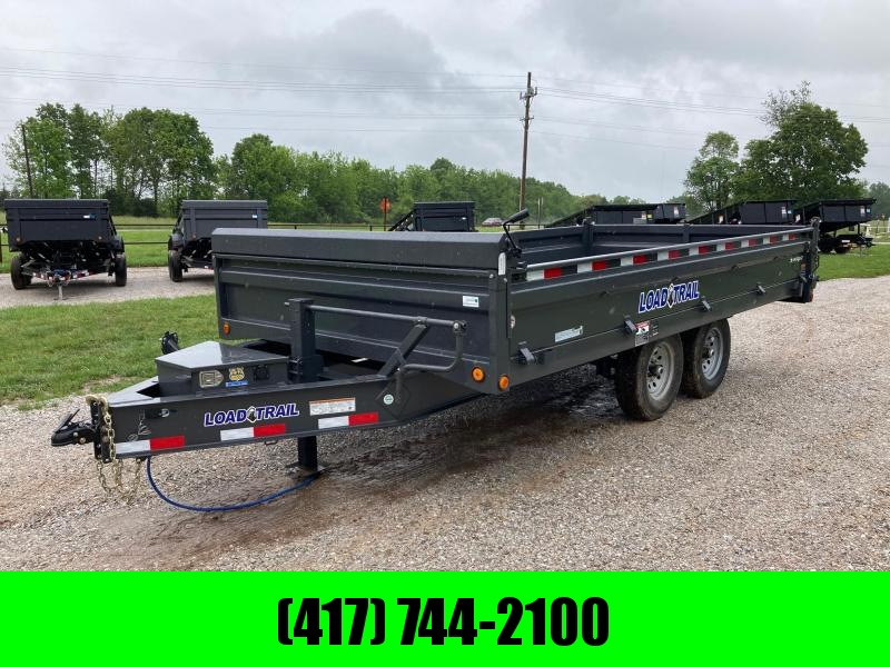 """2021 Load Trail 96X16 TANDEM 14K DECK OVER DUMP W 18"""" SIDES AND SLIDE IN RAMPS"""