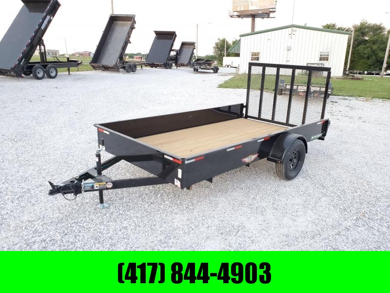 2020 H and H Trailer 76 X 12 TANDEM  SOLID SIDE UTILITY