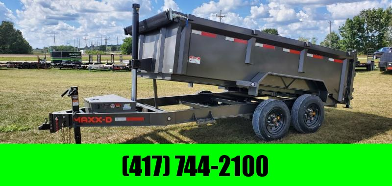 2021 MAXXD 83X14 TANDEM 16K METALLIC GRAY DTX TELESCOPIC DUMP W/3FT SIDES