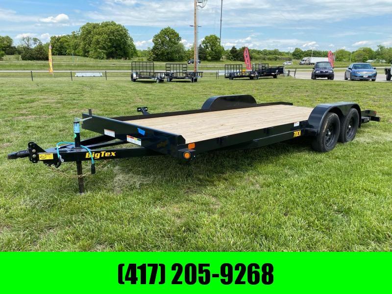 2021 Big Tex 83X20 7K CAR HAULER W / SLIDE IN RAMPS