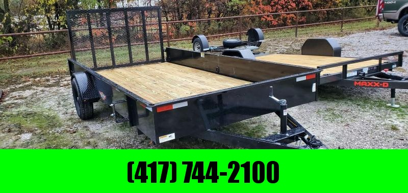 "2021 H&H 82X14 SINGLE 3.5K UTILITY W/15"" SOLID SIDES & SPRING LOADED TUBE GATE"