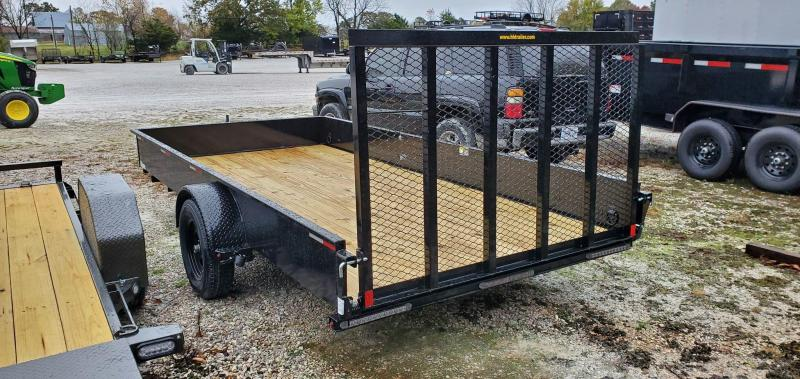 """2021 H&H 82X14 SINGLE 3.5K UTILITY W/15"""" SOLID SIDES & SPRING LOADED TUBE GATE"""