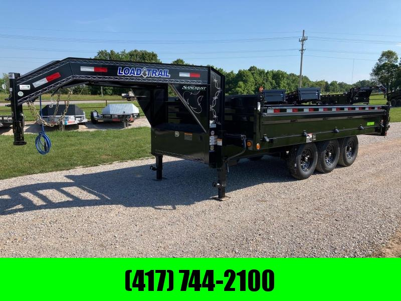 """2021 Load Trail 96X16 TRIPLE 21K DECKOVER DUMP W/ 18"""" SIDES AND SLIDE IN RAMPS"""