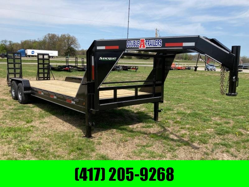 2021 Double A 83x24 Tandem GN Equipment Trailer