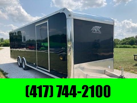 2018 ATC 8.5X28 TANDEM 10K ALL ALUMINUM CARGO W/ CABINETS FINISHED INTERIOR & 7' HEIGHT