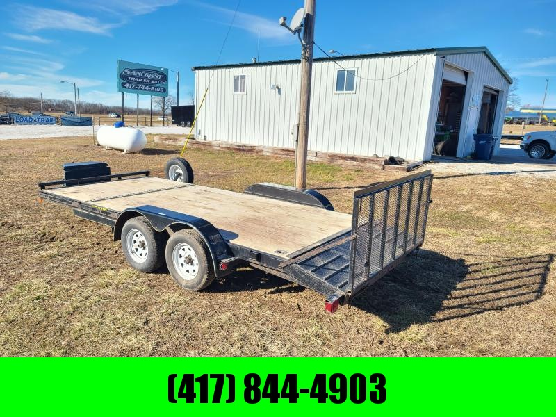 2012 DOOLITTLE 83 X 18 CAR HAULER WITH RAMPS & GATE