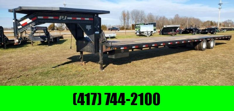 2013 PJ Trailers 102X40 TANDEM LO-PRO GOOSENECK W/12K AXLES NEW 14 PLY TIRES & DECK OVER NECK