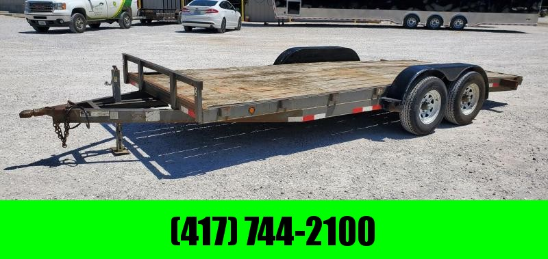 2006 2G 83X18 TANDEM 10K CAR HAULER W/SLIDE OUT RAMPS