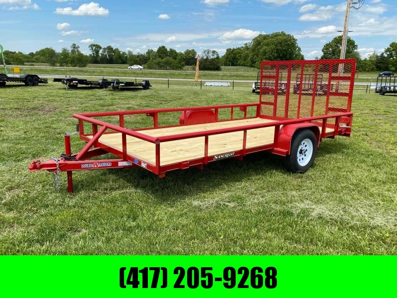 2021 Double A 83X14 UTILITY TRAILER