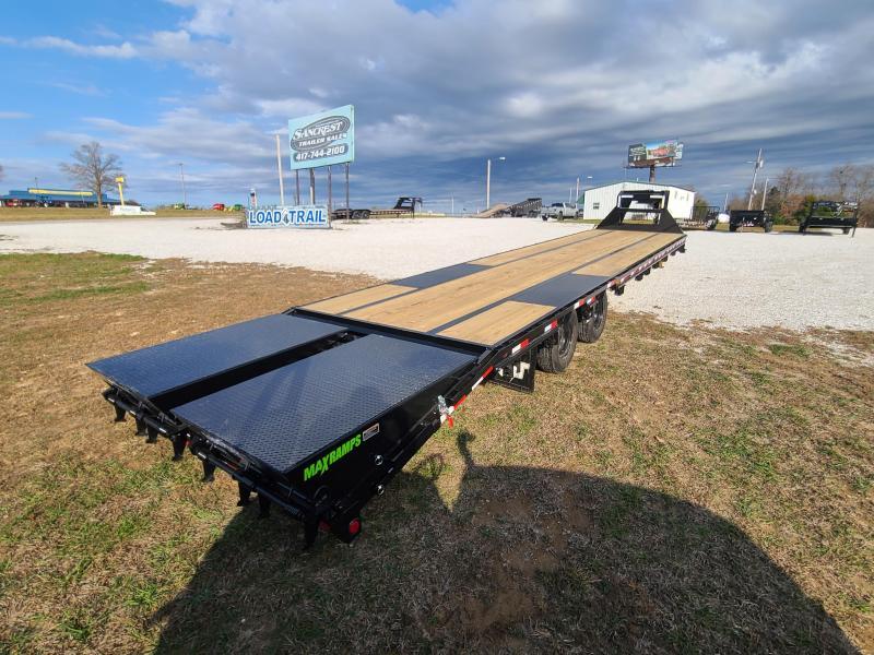 "2021 Load Trail 102"" x 40' Tandem Low-Pro Gooseneck w/Under Frame Bridge & Pipe Bridge ( HOT SHOT READY)"