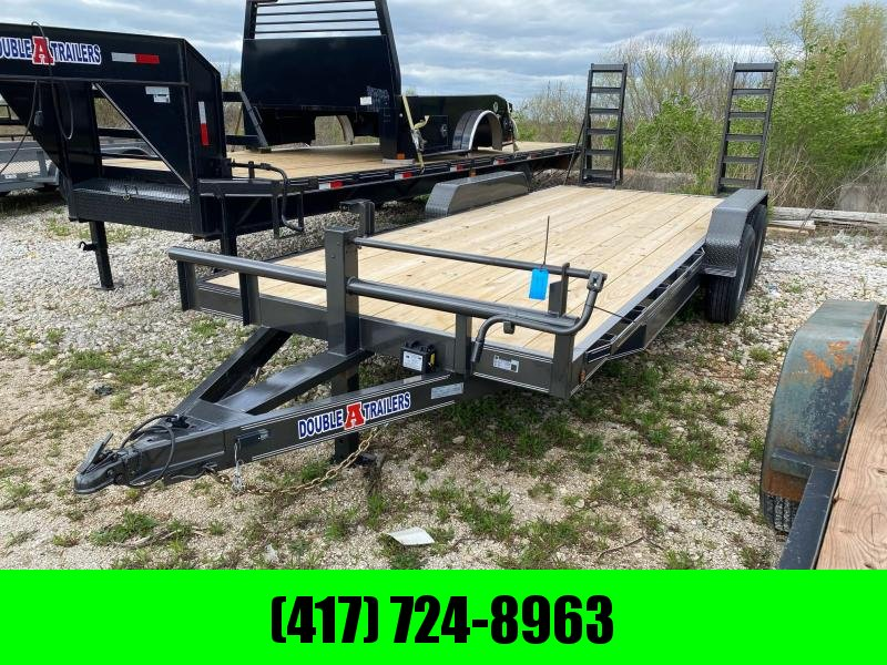 2021 Double A 83x20 Tandem Equipment Trailer
