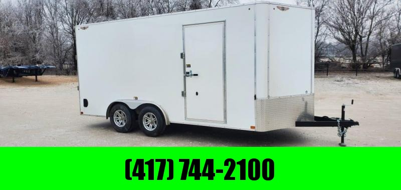 2021 H&H 8X16 TANDEM 10K CARGO W/7' HEIGHT & ALUMINUM WHEELS