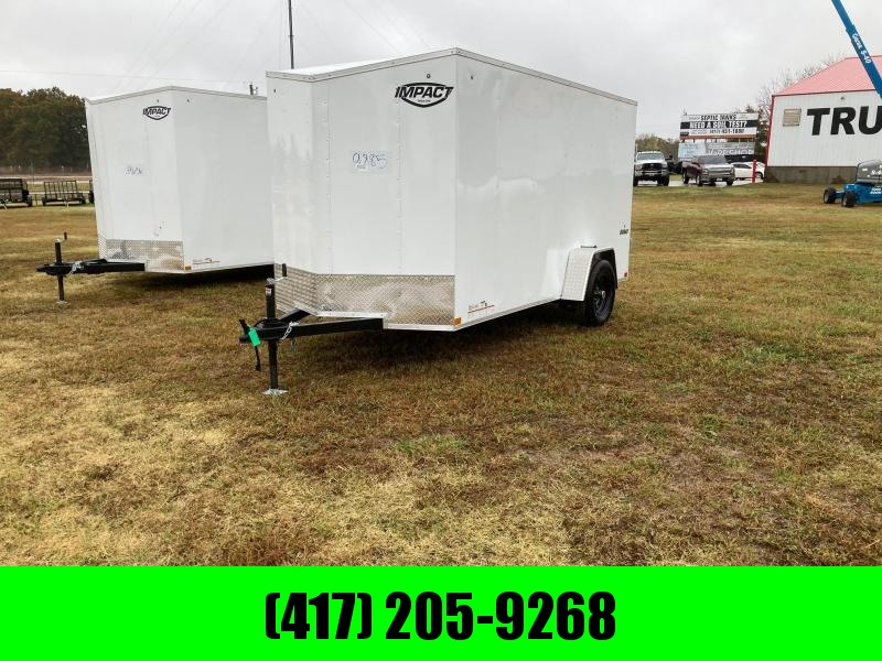 2021 Impact 6x12 Single Axle Enclosed Cargo Trailer