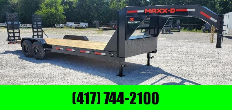 2021 MAXXD 83X24 TANDEM 14K GOOSENECK HAULER W/EQUIPMENT STAND UP RAMPS