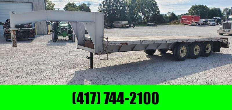 1990 GLDS 96X24 TRIPLE 21K GOOSENECK W/POP UP DOVE 14PLY TIRES & HD SLIDE OUT RAMPS