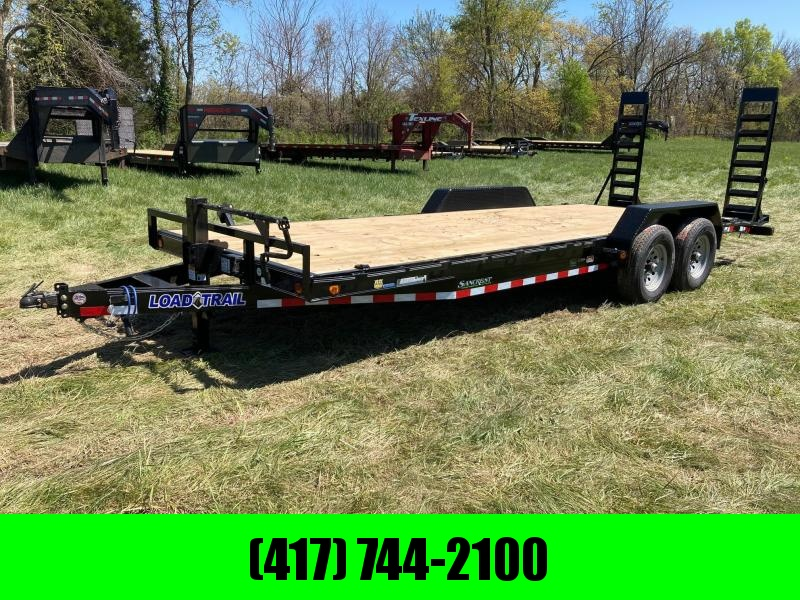 "2021 Load Trail 83""x22' Tandem 14K Equipment Trailer w/ Stand Up Ramps & Drive Over Fenders"