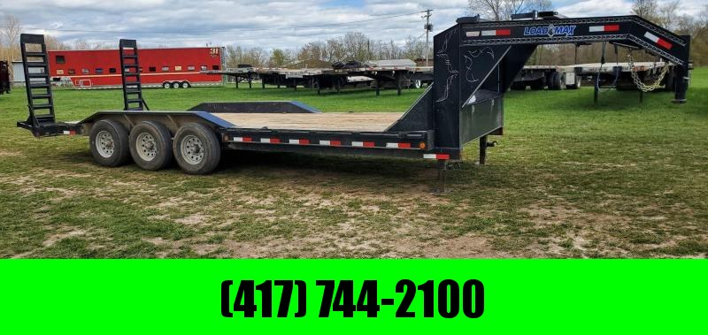 2017 Load Trail 102X24 TRIPLE 21K GN EQUIPMENT HAULER W/FORK HOLDERS & STANDUP RAMPS