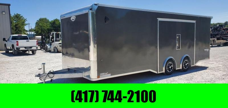 2021 Impact 8.5X24 TANDEM 10K ALL ALUMINUM CHARCOAL SHOCKWAVE CARGO W/EXTREME ESCAPE DOOR & 7' HEIGHT