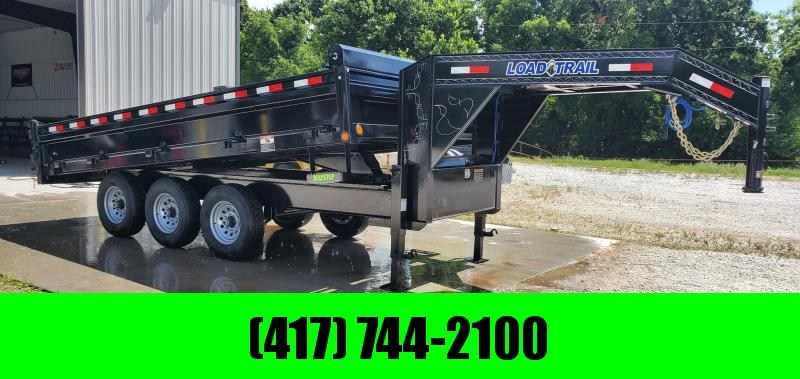 "2019 Load Trail 96X16 TRIPLE 21K GOOSENECK DUMP W/18"" FOLD DOWN SIDES & 20K HOIST (WIRELESS)"