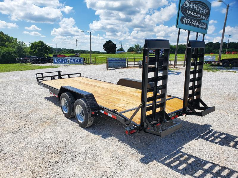 2021 Load Trail 83X20 TANDEM 16K CARHAULER W/ 2FT DOVE & STAND UP RAMPS