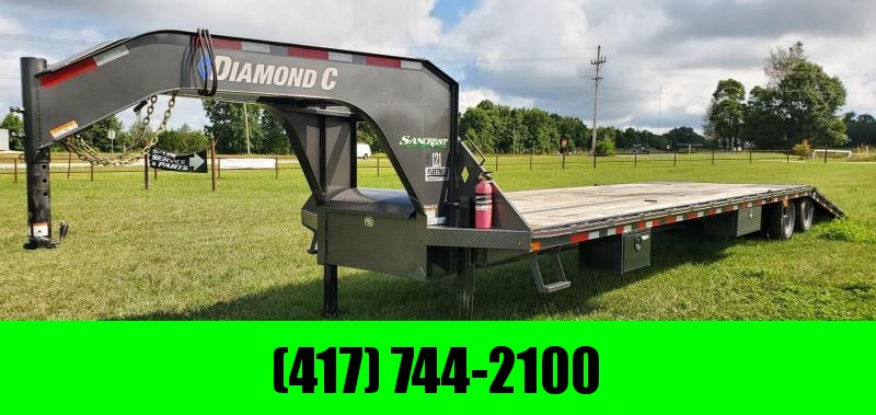 2019 Diamond C 102X40 LO-PRO GOOSENECK W/12K HYD DISC 12FT HYDROTAIL HYDROJACKS