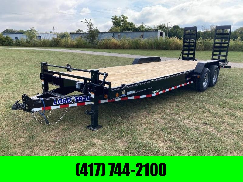 """2022 Load Trail 83X24 TANDEM 14K CARHAULER W/ 2' DOVE AND 24"""" WIDE STAND UP RAMPS"""