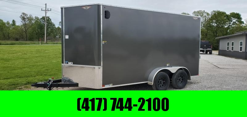 2020 H and H 7X14 TANDEM 7K CHARCOAL CARGO W/7' HEIGHT
