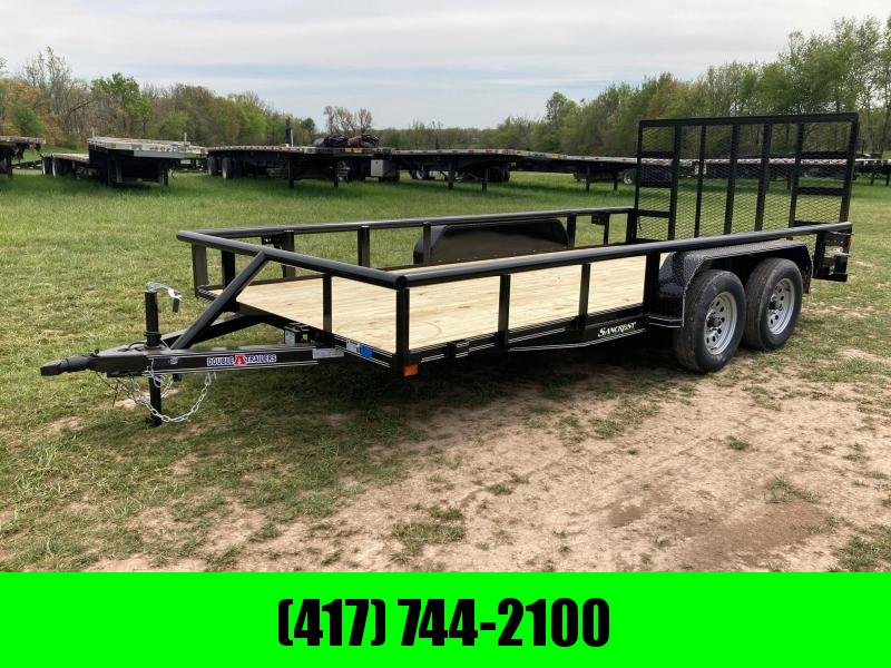 2021 Double A Trailers 83X16 TANDEM 7K UTILITY W/ SPRING ASSIST GATE