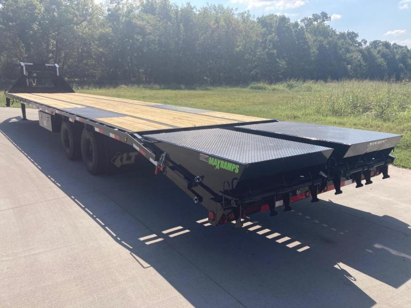 2022 Load Trail 102x40 Tandem GN Flatbed Trailer W/ Air Ride, Lift Axle, 12K Axles, & Max Ramps