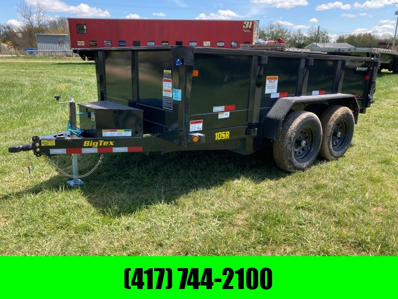 "2021 Big Tex Trailers 83""X12' TANDEM 10 DUMP W/ 24"" SIDES"