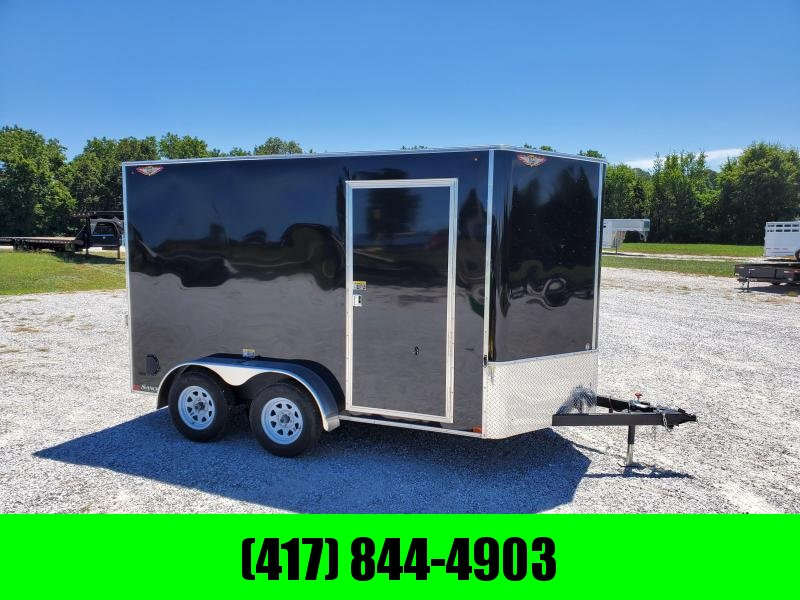 2021 H and H Trailer 7'X12' TANDEM 7K CARGO BLACK