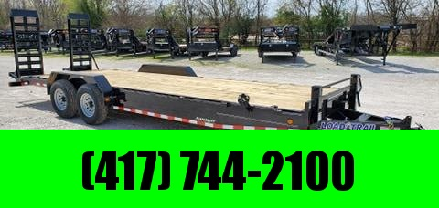 "2020 Load Trail 83X24 TANDEM 14K CAR/EQUIPMENT HAULER W/8"" FRAME 2-10K JACKS & HD EQUIPMENT STAND UP RAMPS"