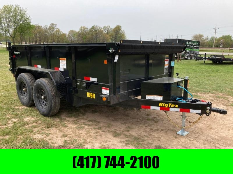 "2021 Big Tex Trailers DUMP TANDEM 10K DUMP WITH 24"" SIDES & SLIDE IN RAMPS"