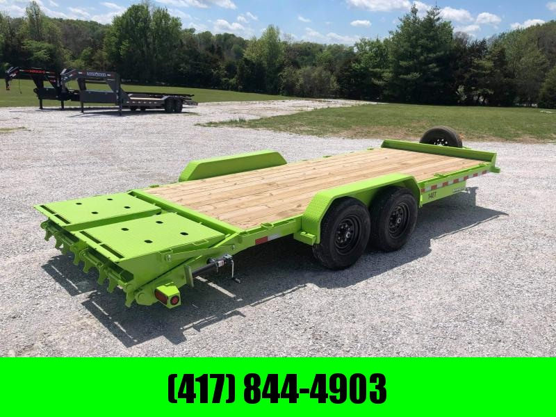 2021 Big Tex Trailers 83 X 20 EQUIPMENT TRAILER w/ MINI MEGA RAMPS           SLIME GREEN